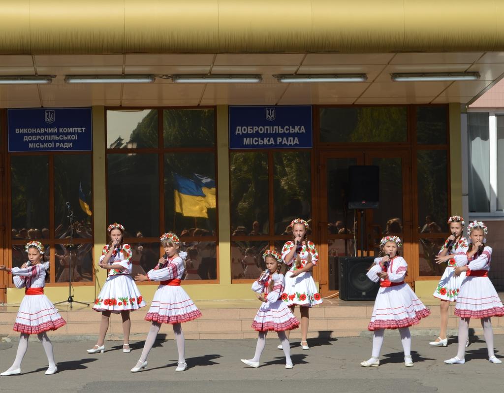 Сьогодні біля будівлі міської ради Добропілля відбулось урочисте святкування Дня Прапору України, фото-2