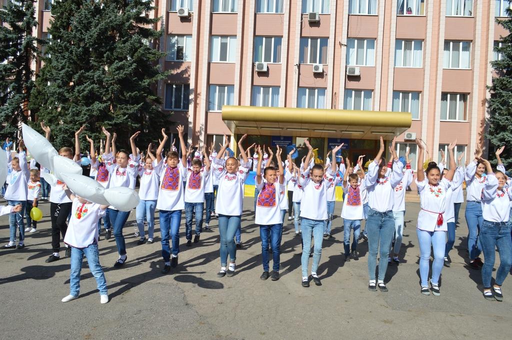 Сьогодні біля будівлі міської ради Добропілля відбулось урочисте святкування Дня Прапору України, фото-5
