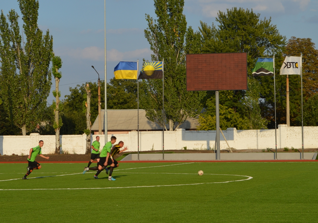 Вперше після відкриття оновленого стадіону «Авангард» міста Добропілля, відбувся футбольний матч, фото-1