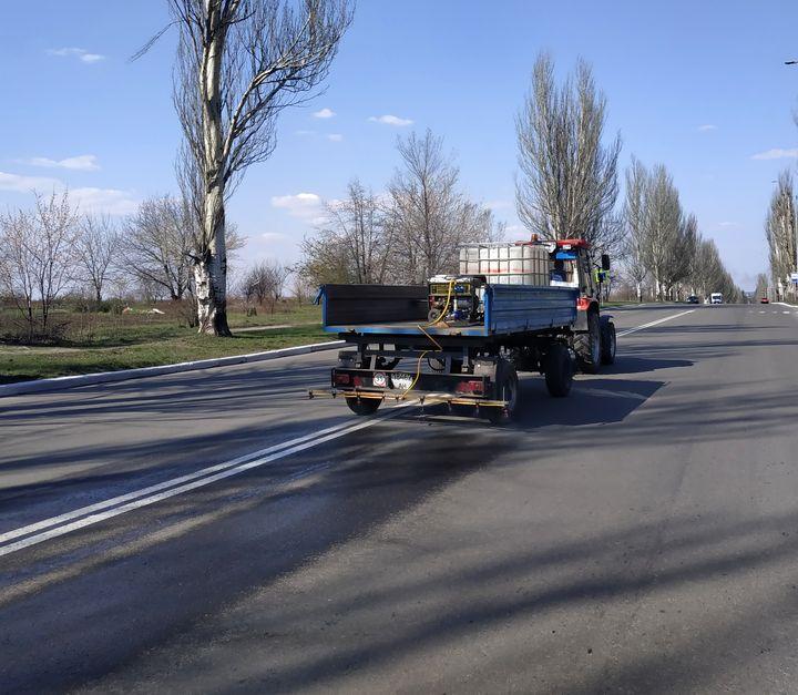 В Добропіллі провели дезінфекцію вулиць та зупинок, фото-2